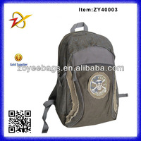 Cheap printing and applique skull 600D + canvas backpack
