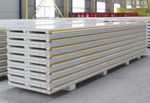 Prefabricated Houses construction materials PU foam sandwich panel/aluminium alloy wall panel