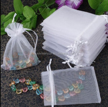 Rectangle Good Quality Jewelry Gift Use Elegant Looking Various Color Organza Bag