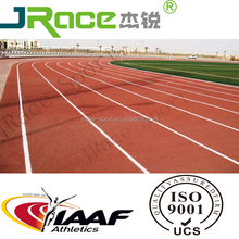 Polyurethane synthetic IAAF running tracks materials rubber track