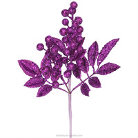 Glitter Decorative artificial christmas berry picks