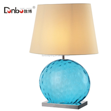 modern decoration glass desk/table lamp, modern house reading light with fabric shase for bedside
