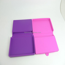 portable card cover silicone business card holder/silicone business card case