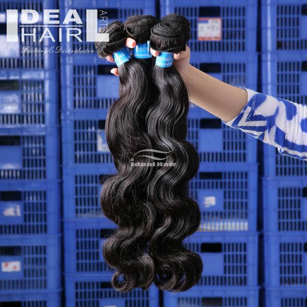 7A grade top quality wholesale body wave 100% Unprocessed 100% bazilian virgin hair extension