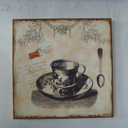 French coffee sign metal plaque cafe kitchen decor