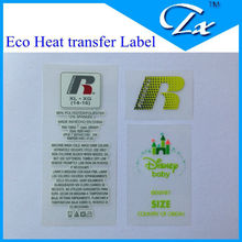 Film delicate kids printing heat transfer Main size Label for garment