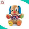 Baby soft animal shaped dog plush toy music dog plush toys