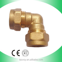Taizhou manufacturing good quality brass male and female elbow