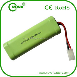 rechargeable ni-mh 7.2v sc 1800mah battery pack