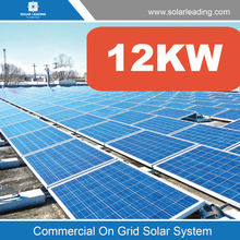 Turnkey service 12000w solar system for industrial use include 250w solar modules pv panel also with solar power inverters