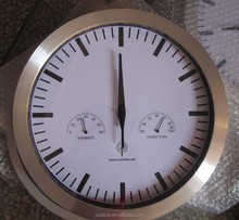 hot selling 12 inch aluminum DCF Radio controlled wall clock