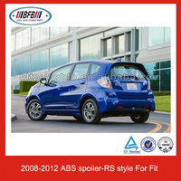 Auto Rear Spoiler ABS Car Spoiler for Honda Fit/Jazz RS Style 2008-2012