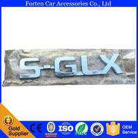 Chrome ABS Car SGLX 3D Emblem Sticker For Toyota Corolla Camry Hilux Rear Badge Emblems