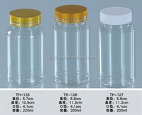 plastic bottle Manufacturers PET Bottle pill/healthy care bottlewith crown cap150ml and screw cap