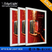 Edgelight AF19 acrylic led light box sign advertising product