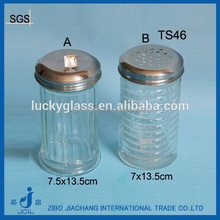 wholesale glass spice bottles with metal hold lids