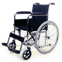handicapped Wheelchair Chrome steel wheel chair
