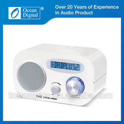 20 years experience LCD screen sleep timer desktop DAB Radio