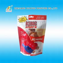 2015 Hot Sale Resealable Zipper Stand Up Pet Food Bag, Plastic Dog Food Bag