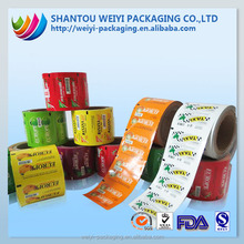 laminating metallized polyester plastic wrapping film packaging for food