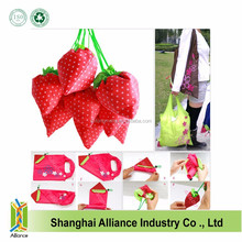 Factory Direct Strawberry Foldable Shopping Tote Bag