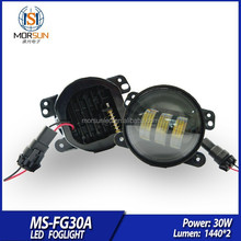 Newest 30w round led flat light, 12v 24v 4'' jeep cherokee fog lamps