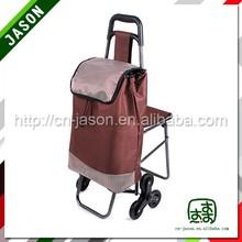 two wheel shopping cart cherry wood shelf