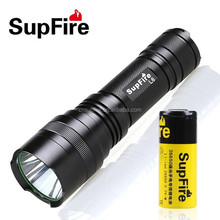 2015 SupFire High Power long time xml t6 rechargeable led flashlight