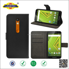 Various Leather wallet Case Mobile Phone Cover For Motorola Moto X Play