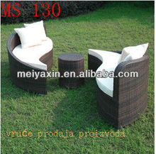 MS-130 Popular cheap rattan sofa, rattan wicker sofa, rattan sleeper sofa