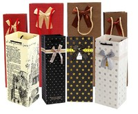 Cheap custom paper bag wholesale factory wine bottle packing bag