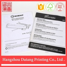 Customized white & black printing coated paper 3d brochure book printing services