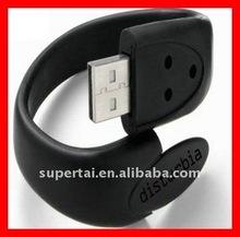 Free Logo silicone wrist band 4gb USB flash Drive