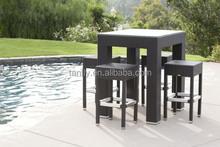 outdoor patio bar set-synthetic pe rattan wicker resin garden & pool furniture
