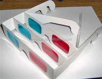 500pcs Red Cyan Blue Paper 3D Glasses 3D Anaglyph White DHL Freeshipping