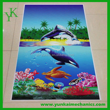 High quality beach towel printed brand your name towel wholesale