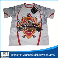 100% polyester sublimation softball sports wear jersey