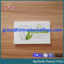 Waxed and Flavored Card Shape Dental Floss