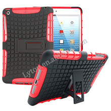 for ipad mini 1 2 3, 2 in 1 with stand back tablet case cover for ipad mini 1 2 3