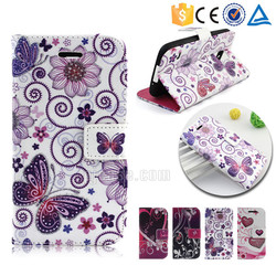 Glitter powder colorful printing pu leather wallet case for ZTE Blade A570