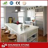 Flat surface fake white quartz stone for table tops CK2801
