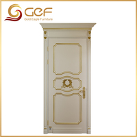 Luxury beautiful design solid teak wood door price