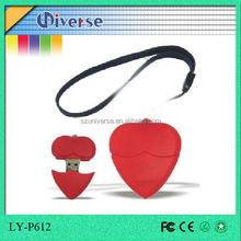 2015 best heart shape gift usb flash memory 500gb
