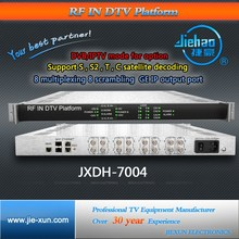 Multiple ASI TO IP Gateway Satellite Receiver with IP output 8 RF to IPTV Streaming Server