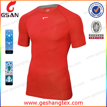mens compression slim fitting short sleeve sports t shirts , compressed t shirts