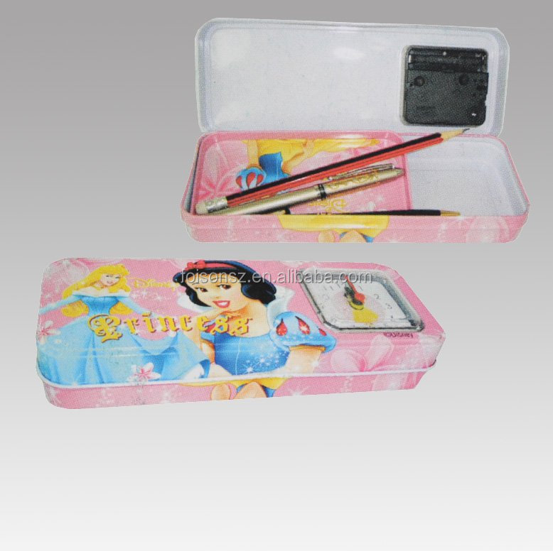 cute metal tin pencil case with competitive price