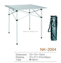 4 legs aluminium folding table for camping