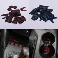 14 Pcs/set Interior Latex Anti Slip Auto Door Gate Slot Pad Mats Car Carpets For Mazda CX-5