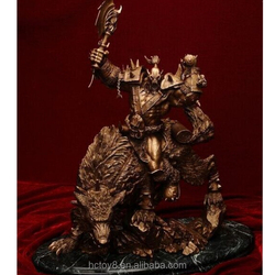 2015 New Hot Sale PVC 26 cm World of Warcraft Gold Riding Wolf action figure