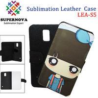 Sublimation Flip Leather Case for S5